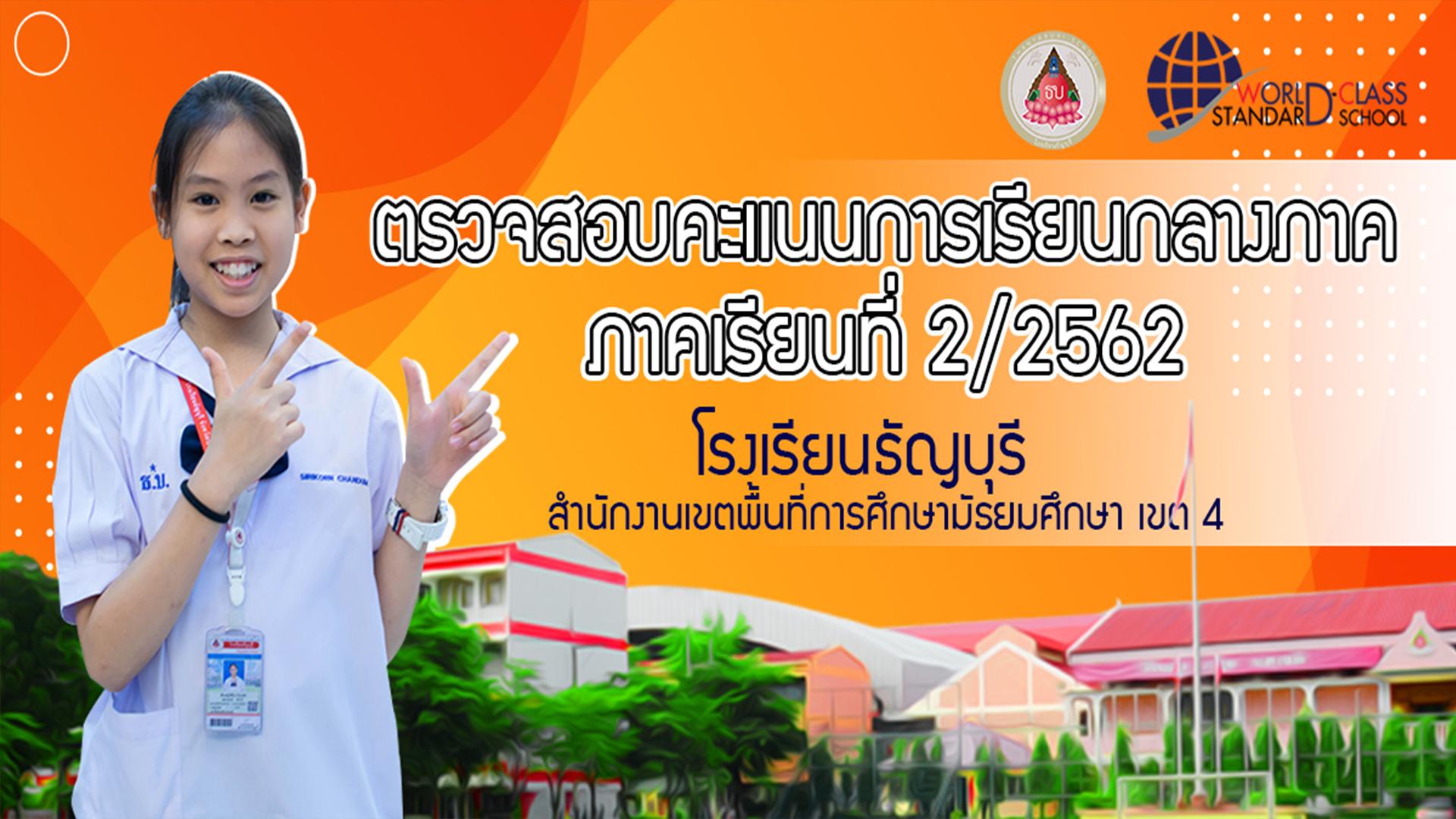 ประกาศผลคะแนนกลางภาคโรงเรียนธัญบุรี