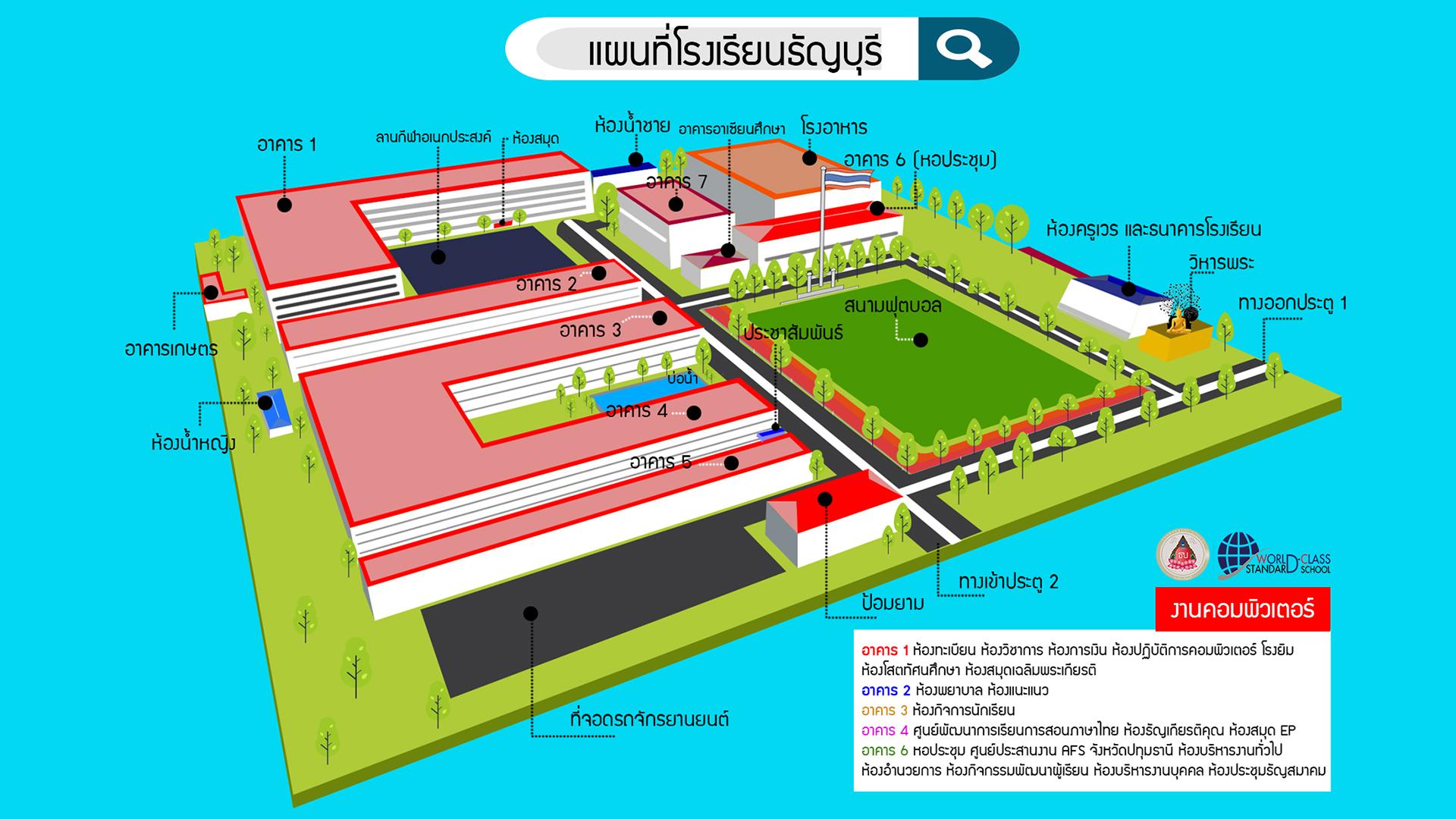 แผนที่โรงเรียนธัญบุรี
